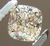 0.55ct W-X Light Brown SI1 Cushion Cut Diamond R8186