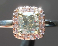 SOLD...0.85ct Fancy Gray SI Cushion Cut Diamond Ring R8339