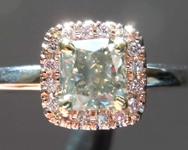 SOLD...0.85ct Fancy Gray SI Cushion Cut Diamond Ring R8339