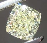 SOLD....1.25ct Light Yellow VVS1 Cushion Cut Diamond R8382