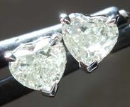 SOLD....1.04ctw N VS Heart Shape Diamond Earrings R8383