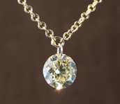 SOLD...0.43ct U-V SI1 Round Brilliant Diamond Necklace R7738