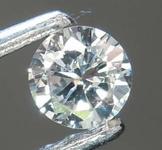 0.10ct Very Light Blue SI2 Round Brilliant Diamond R8413