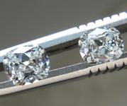 SOLD.....0.82ctw F-G VS2-SI2 Cushion Cut Diamond Pair R8418