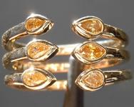 0.32ctw Orangy Yellow SI Mixed Cut Diamond Ring R8374