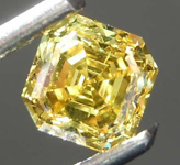 SOLD....0.48ct Vivid Yellow SI1 Asscher Cut Diamond R8426