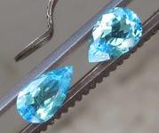 1.16ctw Blue Pear Paraiba Tourmaline Pair R8429