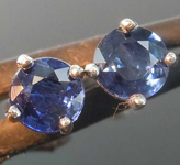 0.93ctw Blue Round Brilliant Sapphire Earrings R7853