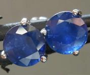 1.82ctw Blue Round Brilliant Sapphire Earrings R7342