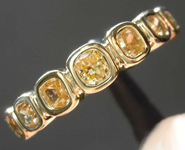 0.64ctw Brownish Yellow Cushion Cut Diamond Ring R8261