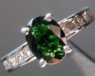 SOLD.....1.24ct Green Oval Tourmaline Ring R8217