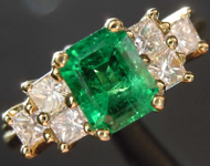 SOLD...0.85ct Emerald Cut Emerald Ring R8494