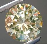 2.01ct Brownish Greenish Yellow I1 Round Brilliant Diamond R8329