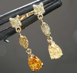 0.87ctw Fancy Colored Diamond Earrings R8430