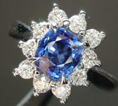 SOLD...1.32ct Blue Cushion Cut Sapphire Ring R8502