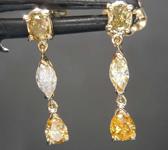 SOLD...0.76ctw Yellow Diamond Dangle Earrings R8432
