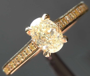 SOLD....0.51ct Yellow VS2 Oval Diamond Ring R8030