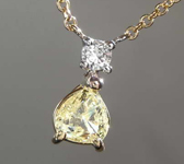 0.32ct Yellow Pear Diamond Necklace R8273