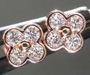 SOLD....0.22ctw Pink Round Brilliant Diamond Earrings R8489
