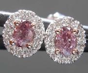 SOLD...0.30cts Purple Oval Diamond Earrings R8536
