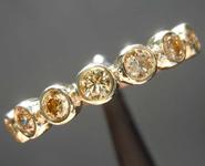 0.72ctw Yellow Round Brilliant Diamond Ring R8535