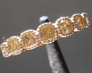 SOLD...0.57ctw Brownish Yellow Radiant Cut Diamond Ring R8548