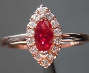 0.45ct Red Marquise Ruby Ring R7015