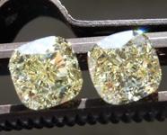 SOLD....2.02ctw Y-Z VS1 Cushion Cut Diamond Earrings R8581