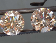 SOLD....6.10ctw Brown Round Brilliant Diamond Earrings R8583