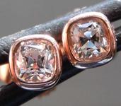 0.30ctw D-E VS Old Mine Brilliant Diamond Earrings R8553