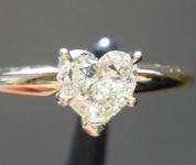 SOLD....0.63ct Yellow VS2 Heart Shape Diamond Ring R8387