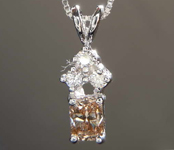 0.37ctw Brown VS1 Cushion Cut Diamond Pendant R6935