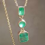 0.74ctw Emerald Pendant R7849