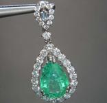 SOLD....2.28ct Pear Shape Emerald Pendant R8611