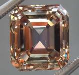 5.32ct Orangy Brown VS Emerald Cut Diamond R8613