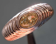 SOLD...0.41ct Greenish Yellow VS2 Oval Shape Diamond Ring R8616