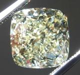 SOLD....4.01ct W-X VVS2 Cushion Cut Diamond R8297