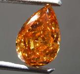 SOLD.....1.00ct Orange I1 Pear Shape Diamond R8661