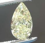 SOLD....0.62ct Yellow VS1 Pear Shape Diamond R8663