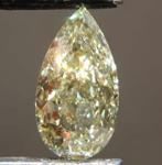 3.01ct Yellow SI2 Pear Shape Diamond R8667