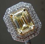 SOLD....3.50ct W-X VVS1 Emerald Cut Diamond Ring R8666