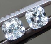 0.58ctw E VS1 Cushion Cut Diamond Earrings R8669