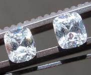 0.68ctw G SI2 Cushion Cut Diamond Earrings R8670