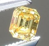 0.19ct Yellow-Orange VS1 Asscher Cut Diamond R6004