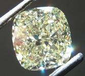 1.60ct Yellow VVS2 Cushion Cut Diamond R8703