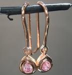 0.28ctw Pink Pear Shape Diamond Earrings R8399