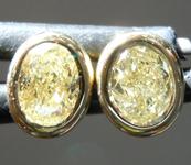 SOLD.....0.41ctw Yellow SI1 Oval Shape Diamond Earrings R8697