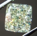 SOLD.....3.20ct Y-Z VVS2 Cushion Cut Diamond R8723