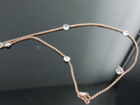 0.96ctw F VS Rose Cut Diamond Necklace R8696