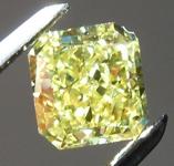 SOLD....0.87ct Vivid Yellow VVS1 Radiant Cut Diamond R8742